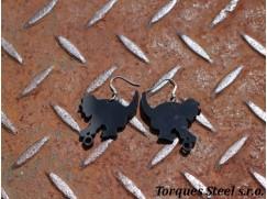 Naušnice kočka černá 38x30 mm