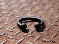 Torques náramek nerezový z chirurgické oceli (50-65) černý komaxit
