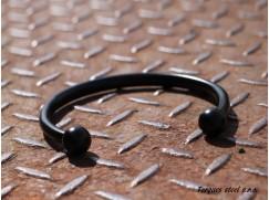Torques náhrdelník z nerezový z chirurgické oceli, vnitřní průměr (110 - 135mm) 8 mm černý komaxit